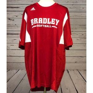 NWT Bradley University Softball Adidas Shirt 2XL